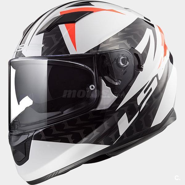 casco integral ls2 Stream evo commander white blac