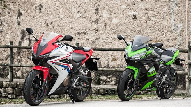 Honda CBR 500R versus Kawasaki Ninja 650