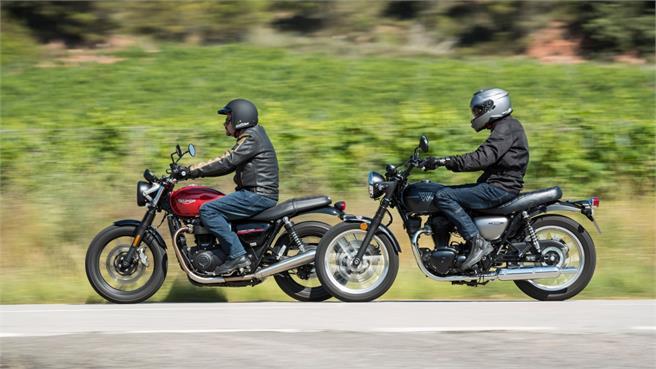 Kawasaki W800 y la Triumph Street Twin