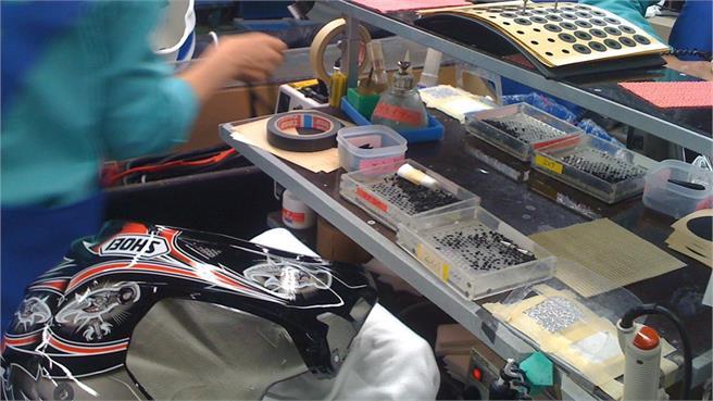 Fábrica Shoei en Japón