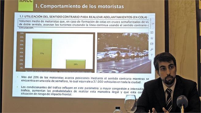 Auditoria del RACC sobre las motos en Madrid