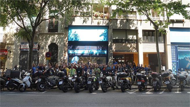 1ª Electroquedada Cooltra en Barcelona