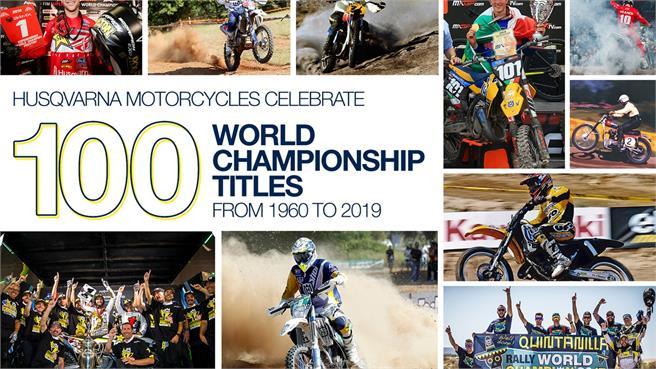 Husqvarna consigue 100 títulos mundiales