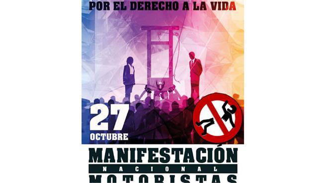 Manifestación motera el 27 de octubre