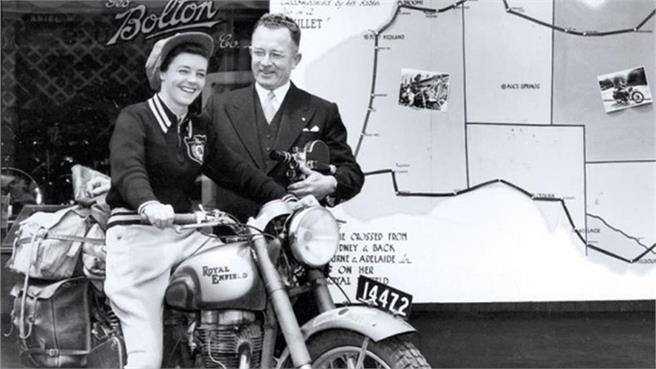 Tributo a Winifred Wells, una de las primeras moto aventureras de la historia
