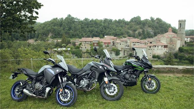 Yamaha Tracer 700, Kawasaki Versys 650, Suzuki V-Strom 650